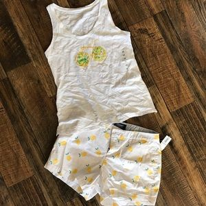 NWT Old Navy Shorts and Tank Top XS Size 4